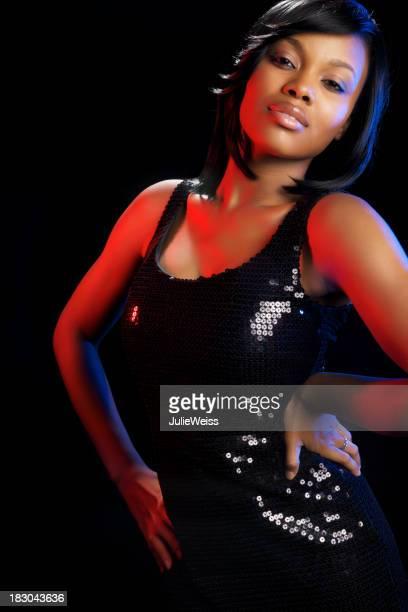 Bella donna afro-americana