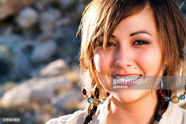 Beautiful American Indian Girl Portrait