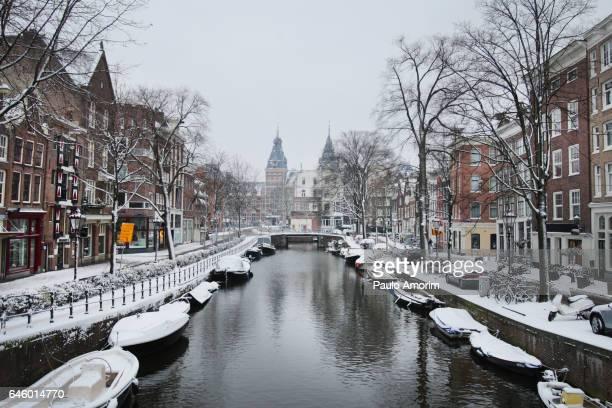 Beautiful Amsterdam during Winter