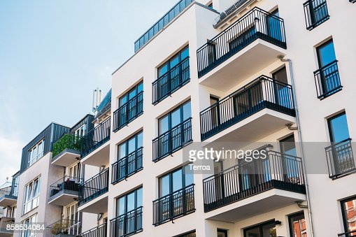 beautiful and clean apartment building : Stock Photo