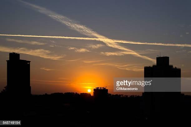 Beautiful and hot sunrise