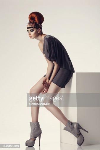 Beautiful and stylish woman : Stock Photo