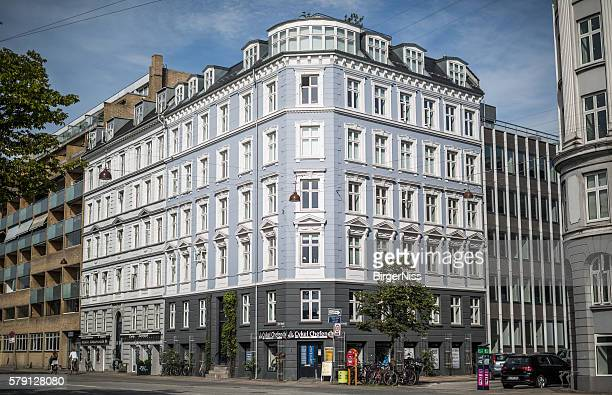 Beautiful apartment building, Copenhagen, Denmark