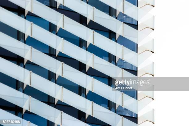 Beautiful architecture building with repetition glass pattern.