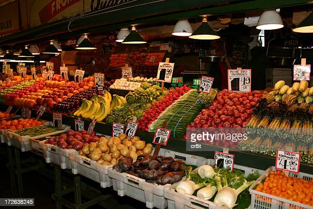 Beautiful array of fresh fruits and vegetables