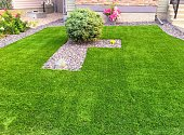 A beautiful artificial lawn