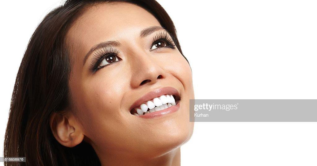 Beautiful asian girl face. : Stock Photo