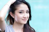 A beautiful asian girl portrait