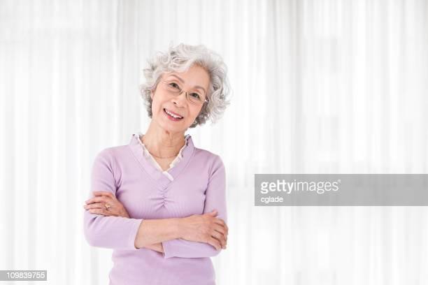 Schöne asiatische Senior Frau