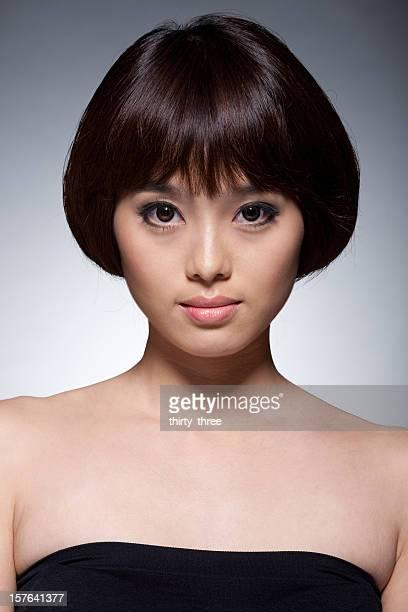 Modèle portrait de jeune asiatique