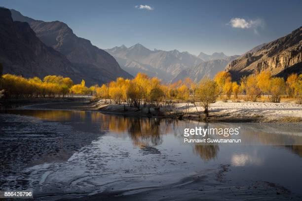 Beautiful autumn in Kaplu district, Gilgit Baltistan, Pakistan