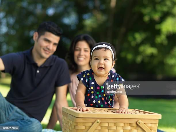 Schöne baby mit ihren Eltern