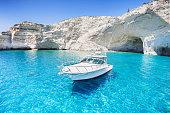 Beautiful seascape, Milos island, Greece