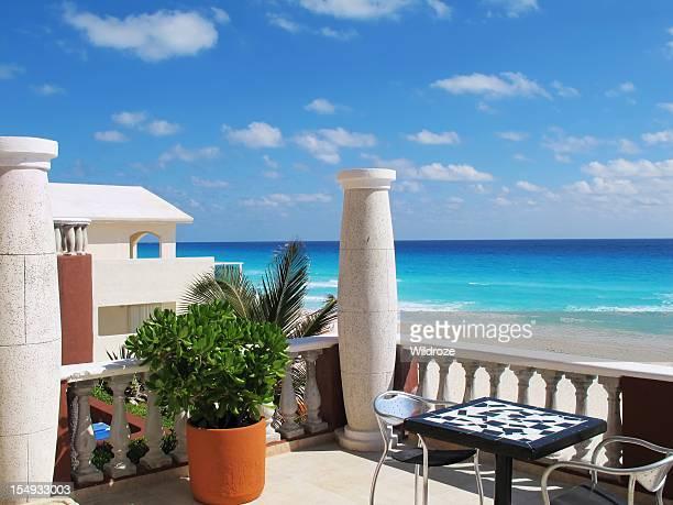 Beautiful beach at Cancun Mexico