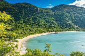 Beautiful beach at  tropical coast of Vietnam - Ninh van bay - close to Nha Trang