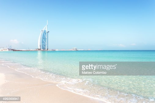 Burj al arab hotel stock photos and pictures getty images for Most beautiful hotel in dubai