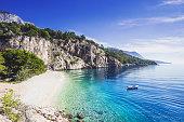 Amazing Nugal beach near Makarska town, Dalmatia, Croatia