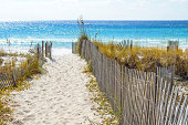 A sandy walkway leading down to the beach at Destin Florida