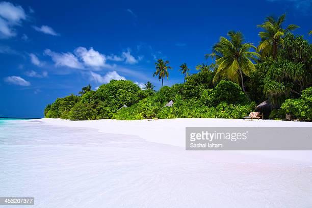 Beautiful beach on Maldives