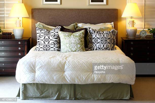 Beautiful bedroom set in white and pillows