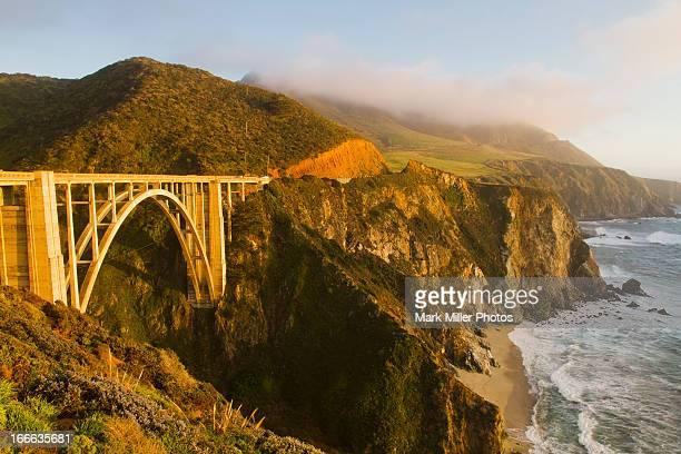 Beautiful Bixby Bridge and Pacific Ocean