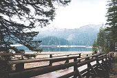 beautiful lake in the mountains. Black Lake, Montenegro, National park Durmitor