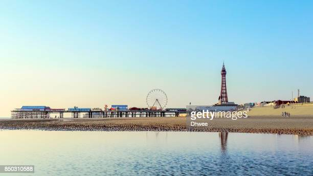 Beautiful Blackpool Beach And Tower