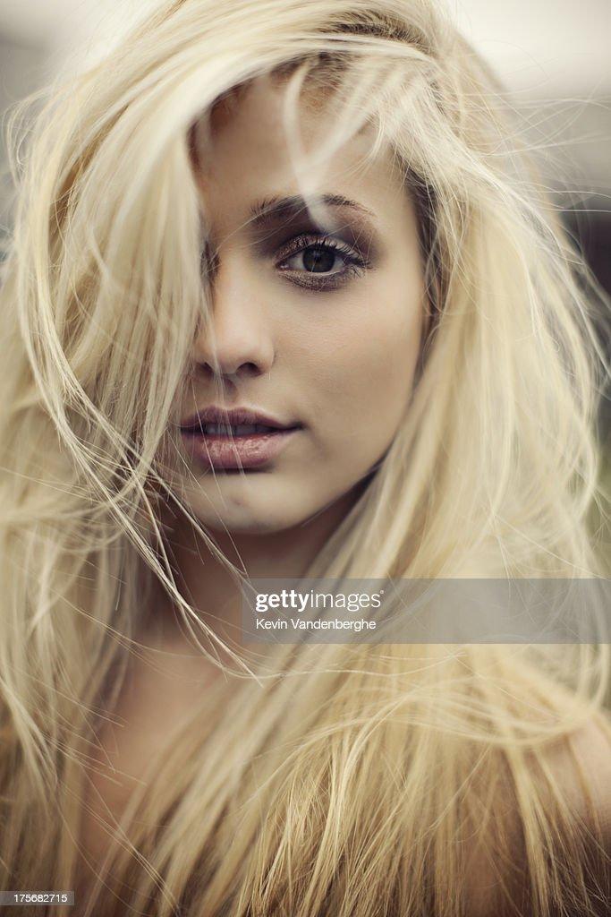beautiful blonde girl : Stock Photo
