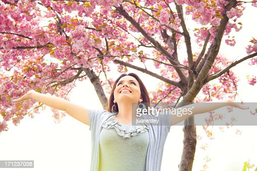 Beautiful Blossom Spring Girl