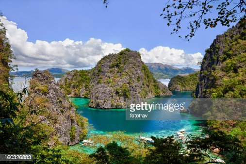 Blue Lagoon Lake, im Kayangan Coron island, Philippinen