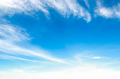 beautiful blue sky with cloud and copy space for spring summer or other background