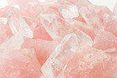 Raw ore of rose quartz and Crystal