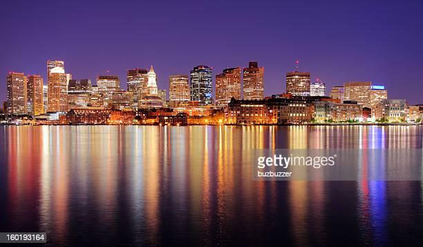 Beautiful Boston City Lights at Night