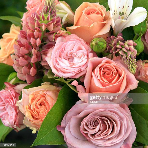 Beautiful bouquet of flowers in soft colours.