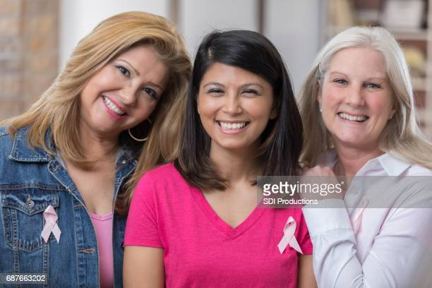 Beautiful breast cancer survivors
