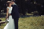Beautiful bride and groom pre wedding shooting