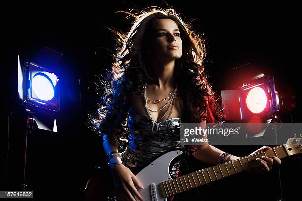 Beautiful Brunette Guitar Player