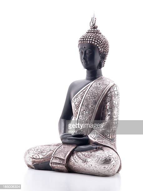 A beautiful Buddha statue on a white background