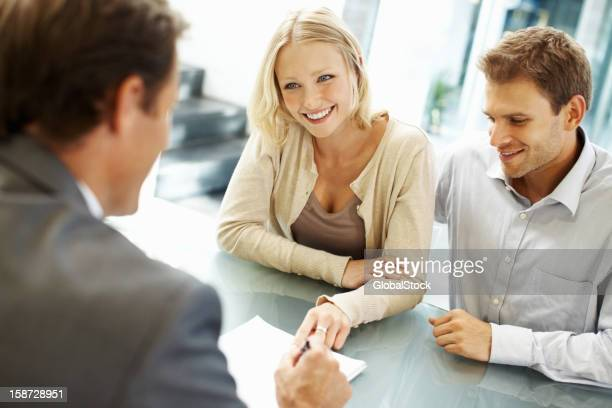 Beautiful business woman smiling in a meeting