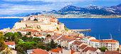 Panoramic View Of Calvi,Corsica Island.France