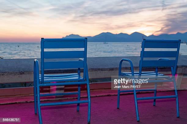 Beautiful Cannes beach landscape