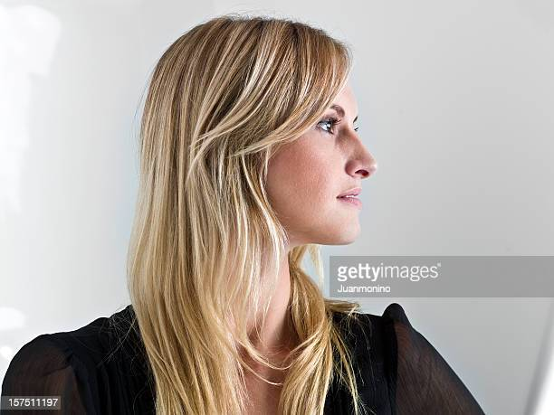 Beautiful caucasian woman profile