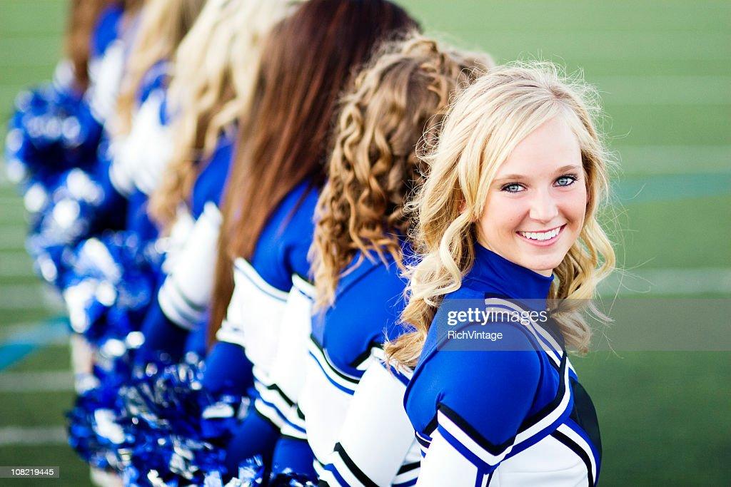 Beautiful Cheerleader : Stock Photo