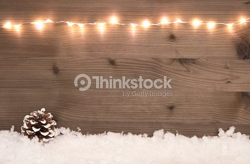 Beautiful Christmas Background With Snow And Copy Space Stock Photo