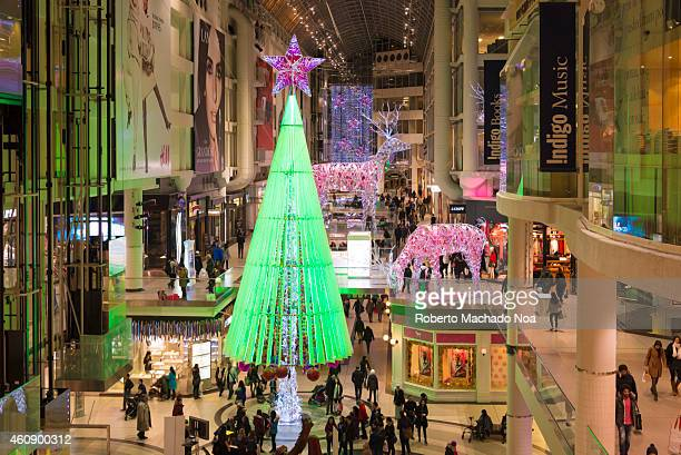 CENTRE TORONTO ONTARIO CANADA Beautiful Christmas decoration in one of the largest Malls in Toronto The Eaton Centre