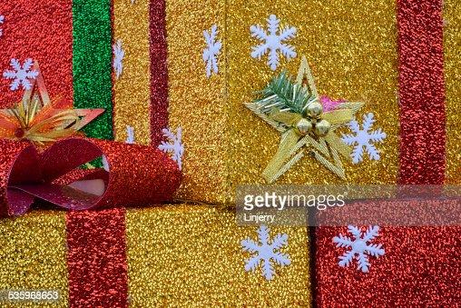 Beautiful Christmas gift : Stock Photo