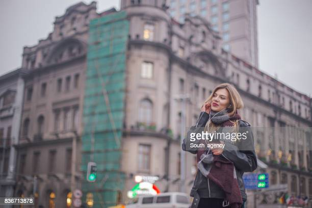 Schöne Stadt Frau