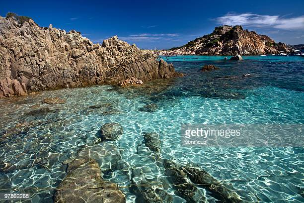 Beautiful clear beach La Maddalena
