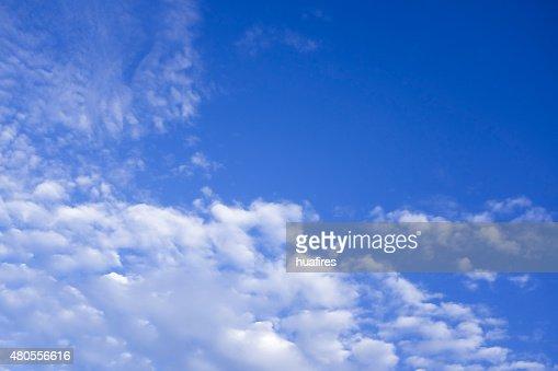 beautiful clouds in blue sky : Stock Photo