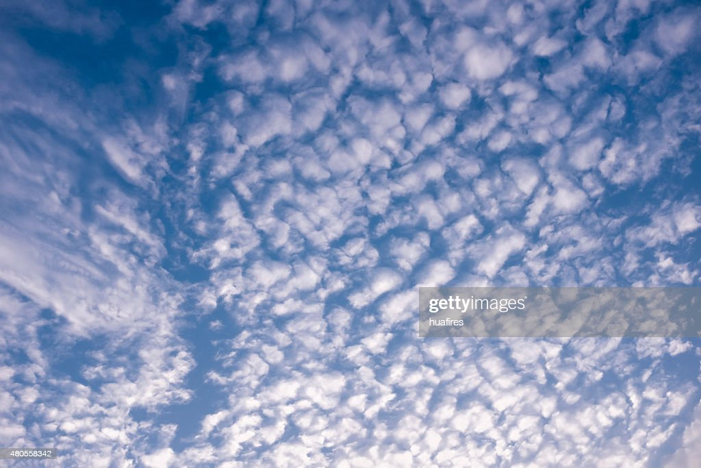 beautiful clouds in blue sky : Stock Photo